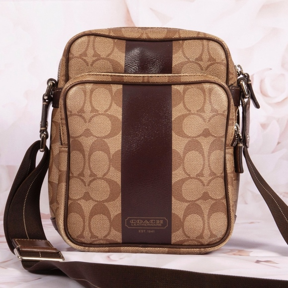 Coach Handbags - Coach Heritage Stripe Crossbody Bag Purse